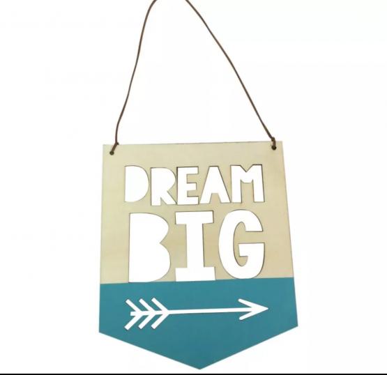 Décoration murale en bois à suspendre » Big Dream»