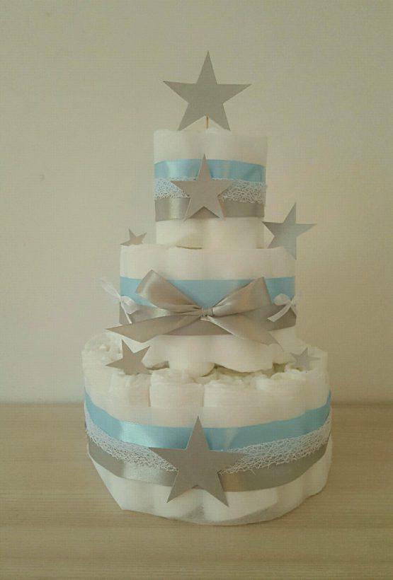 Gâteau de Couche Thème «Silver star»