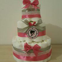 Gâteau de Couche «Princesse rose»