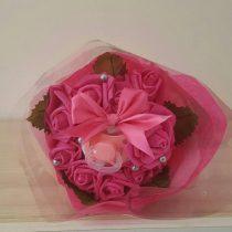 Bouquet naissance «Pink Roses»
