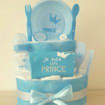 Gâteau de Couche Thème Prince Bleu