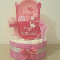Gâteau de Couche Thème Princesse rose