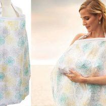 Couverture d'allaitement pour maman» jaune et bleu»