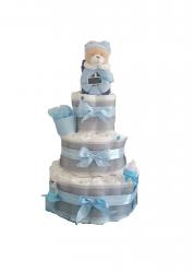 DIAPER CAKE POUR GARCON «DOUCEUR DE BEBE»
