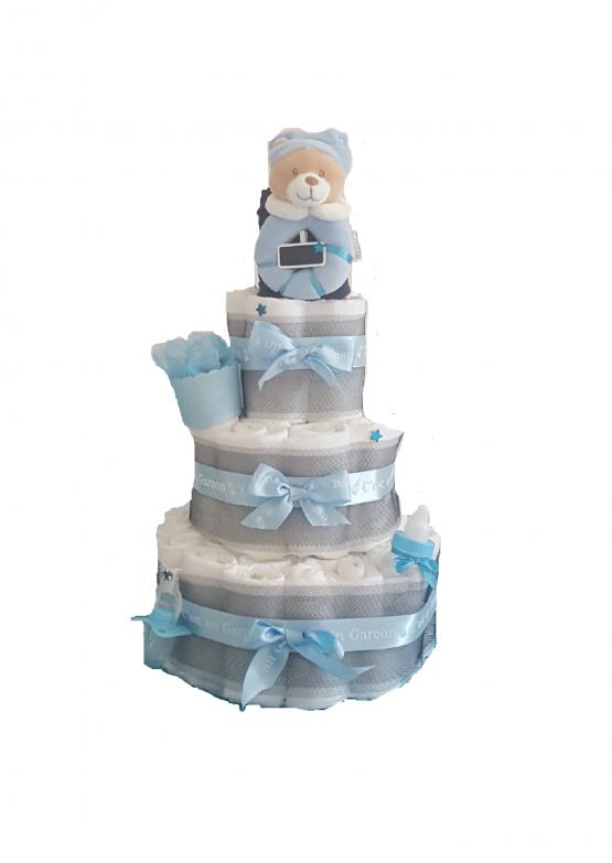 Gâteau de Couche pour garçon » Douceur de bébé»