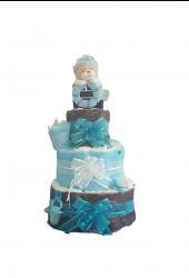 DIAPER CAKE POUR GARCON «AMOUR DE BEBE»
