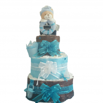 Gâteau de Couche pour garçon «Amour de bébé»
