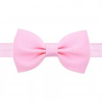 bandeau rose avec petit noeud