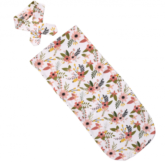 BABY WRAP POUR FILLE ROSE