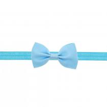 bandeau bleu avec petit nœud