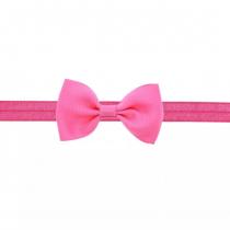 bandeau rose  avec petit nœud 2