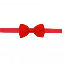 bandeau rouge avec petit nœud
