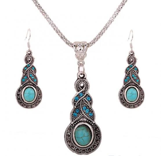 Parure bijoux turquoise
