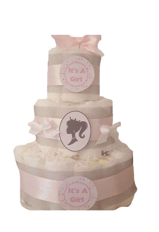 Gâteau de Couche Thème «baby chic» pour fille