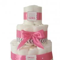 Gâteau de Couche Thème «baby girl»