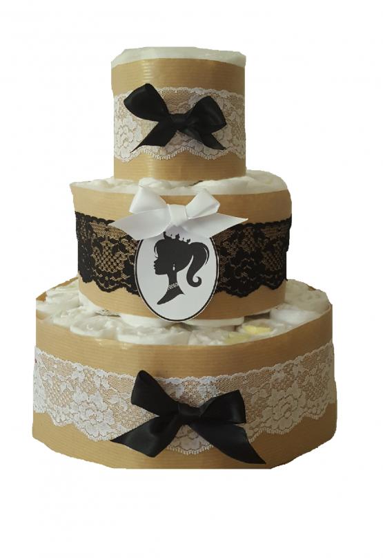 Gâteau de Couche Thème «Petite demoiselle»