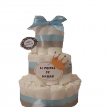 Gâteau de Couche pour garçon «Le prince de maman»