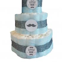 Gâteau de Couche pour garçon «Little man»