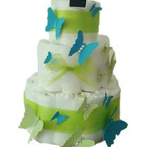 Gâteau de Couche pour garçon » Duo envolé de papillon»