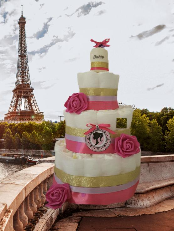 Gâteau de Couche pour fille»Princess rosy»