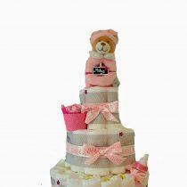 Gâteau de Couche pour fille»Douceur de bébé»