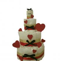 Gâteau de Couche Thème «Petit coeur»