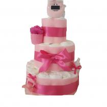 Gâteau de Couche pour fille»rosy chic»