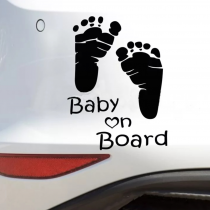 STICKERS POUR VOITURE »BABY ON BOARD »