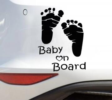 Ce Sticker Pour Voiture « Baby On Bord » De Couleur Noir Permettra Au  Conducteur Proche De Vous De Voir Quu0027 Il Yu0027 A Votre Enfant Qui Se Cache  Dans Votre ...