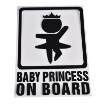STICKERS POUR VOITURE »BABY PRINCESS ON BOARD »