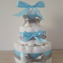 Gâteau de Couche pour garçon «nœuds satin»