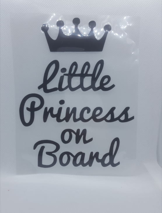 STICKERS POUR VOITURE»LITTLE PRINCESS ON BOARD»