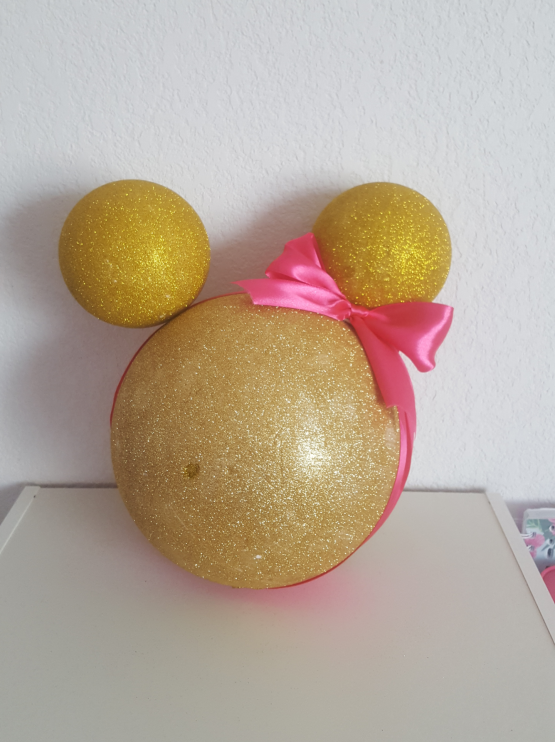 Décoration «Minnie et mickey» Doré