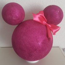 Décoration « Minnie et mickey » Rose fushia