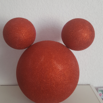 Décoration « Minnie et mickey » rouge