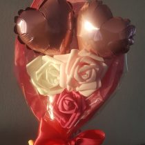 Bouquet de coeur rose