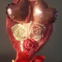 Bouquet de coeur rose