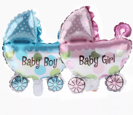 Ballon » poussette baby-girl»