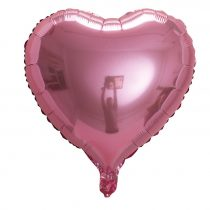 Box ballon coeur rose+ message