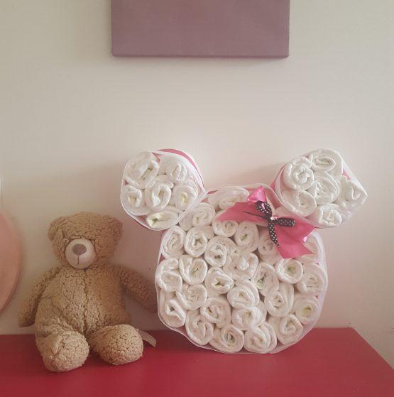 Gâteau de Couche pour fille «Petite Minnie»