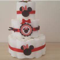 Gâteau de Couche pour fille «Super Minnie»