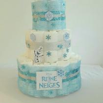 Gâteau de Couche pour fille «la reine des neiges-Frozen»