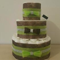 Gâteau de Couche pour garçon «green cake»