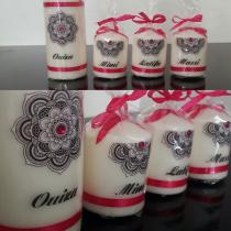 4 bougies personnalisées
