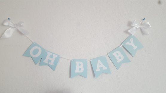 BANDEROLLE «OH BABY» BLEU