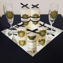 Ensemble bougies pour fiancailles/mariage (vert)