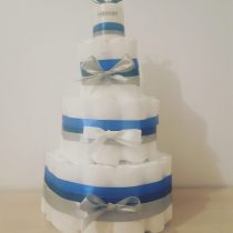 Gâteau de Couche pour garçon «Bleu mystérieux»