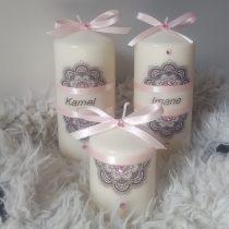 Ensemble bougies pour fiancailles/mariage «Amour de couple»
