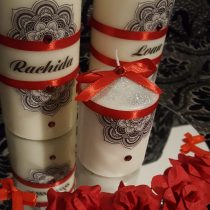 Ensemble bougies pour fiancailles/mariage red love