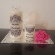 Ensemble bougies pour fiancailles/mariage «Amour de couple»2